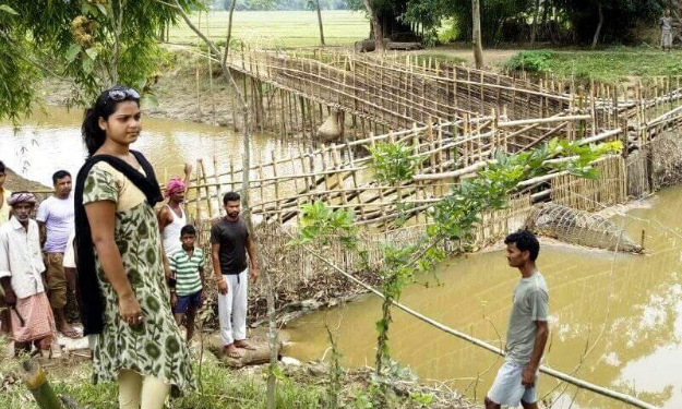 Poor agriculturists demand demolition of illegally raised structure over Boali rivulet