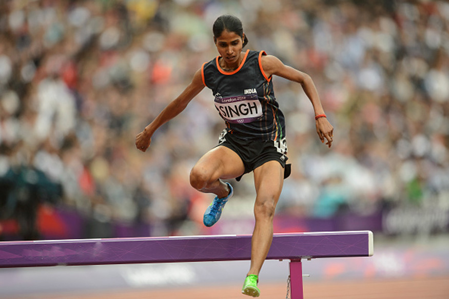 Sudha wins gold in womens steeplechase