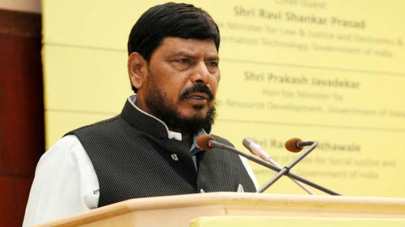 'Pushing for ordinance on Ram temple incorrect': Ramdas Athawale