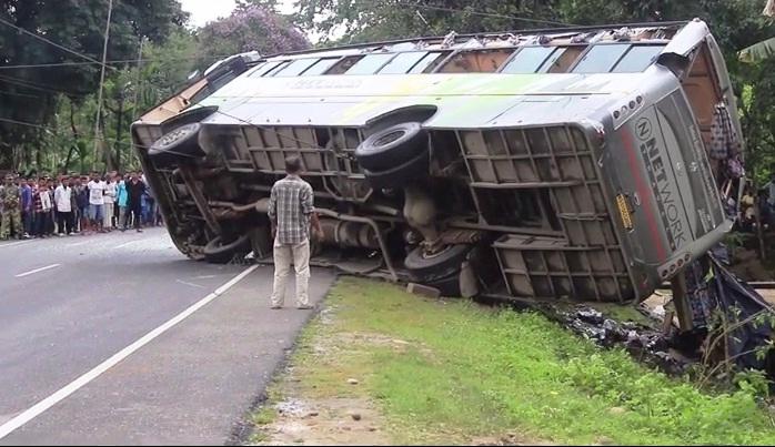Shoddy road repair makes school kids skip classes