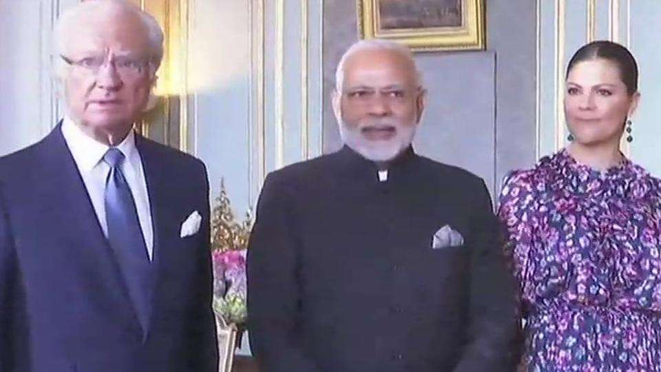 Modi is on a two-day visit to Sweden