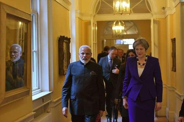 Modi on a four day visit to UK