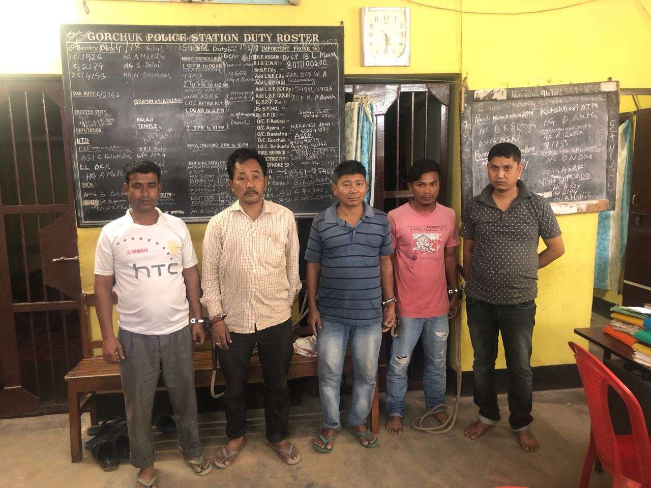 5 land grabbers arrested by Gorchuk police