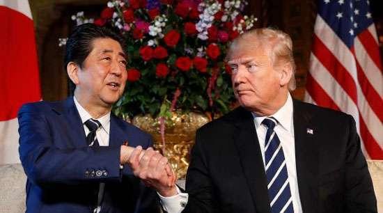 Trump negotiates trade deal with Japan