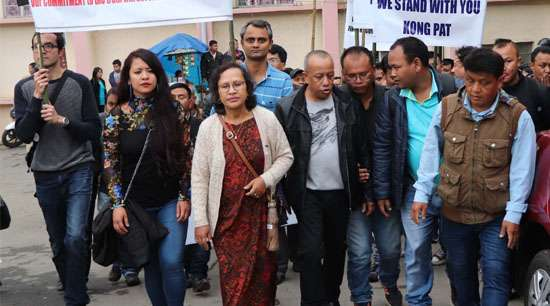 Journalist fraternity takes out protest march in Shillong