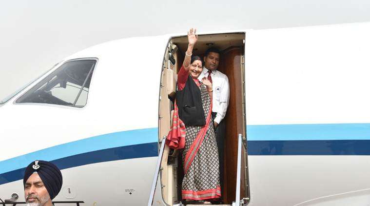 Sushma Swaraj on a five day visit to China and Mongolia