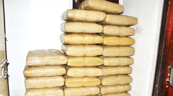 Ganja worth  Rs 1 crore seized