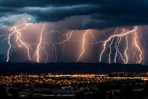 Indian monsoon begins with a bizarre outbreak of lightening