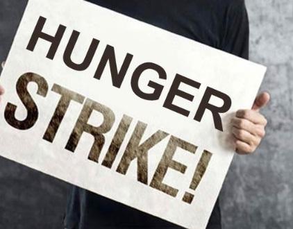 Indefinite hunger strike staged