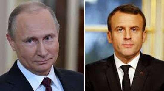 Putin, Macron call for implementing Iran n-deal