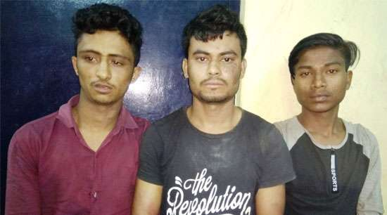 Three arrested