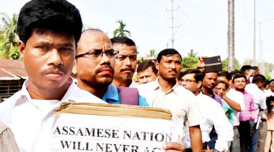 CMSS held a protest