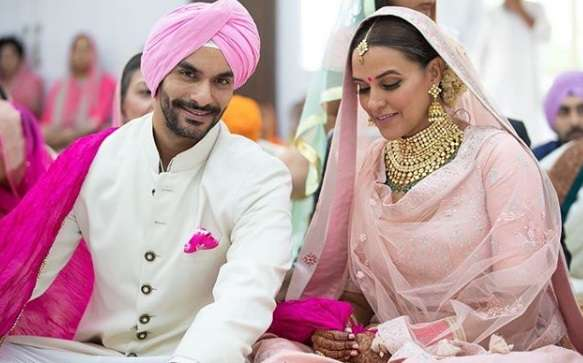 Bollywood actress Neha Dhupia and Angad Bedi tie the knot