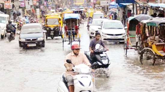 Poor drainage system leads  to stagnation of water