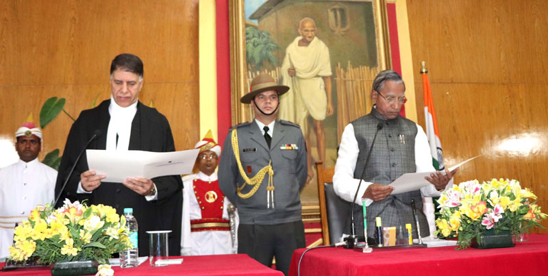 Justice Mirsworn  in as Chief Justice of M'laya High Court
