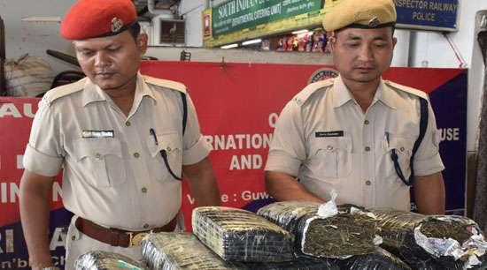 40 kg ganja seized