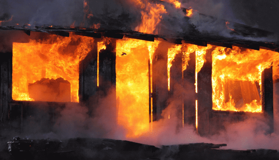 Three shops gutted