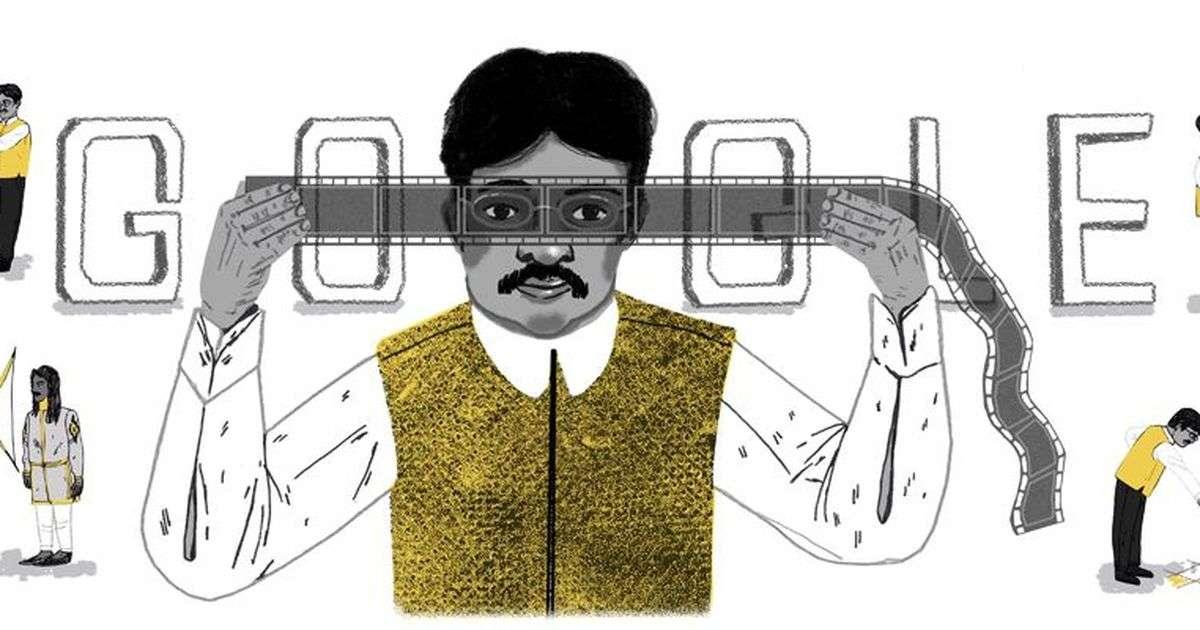 Google doodle on Dadasaheb Phalke
