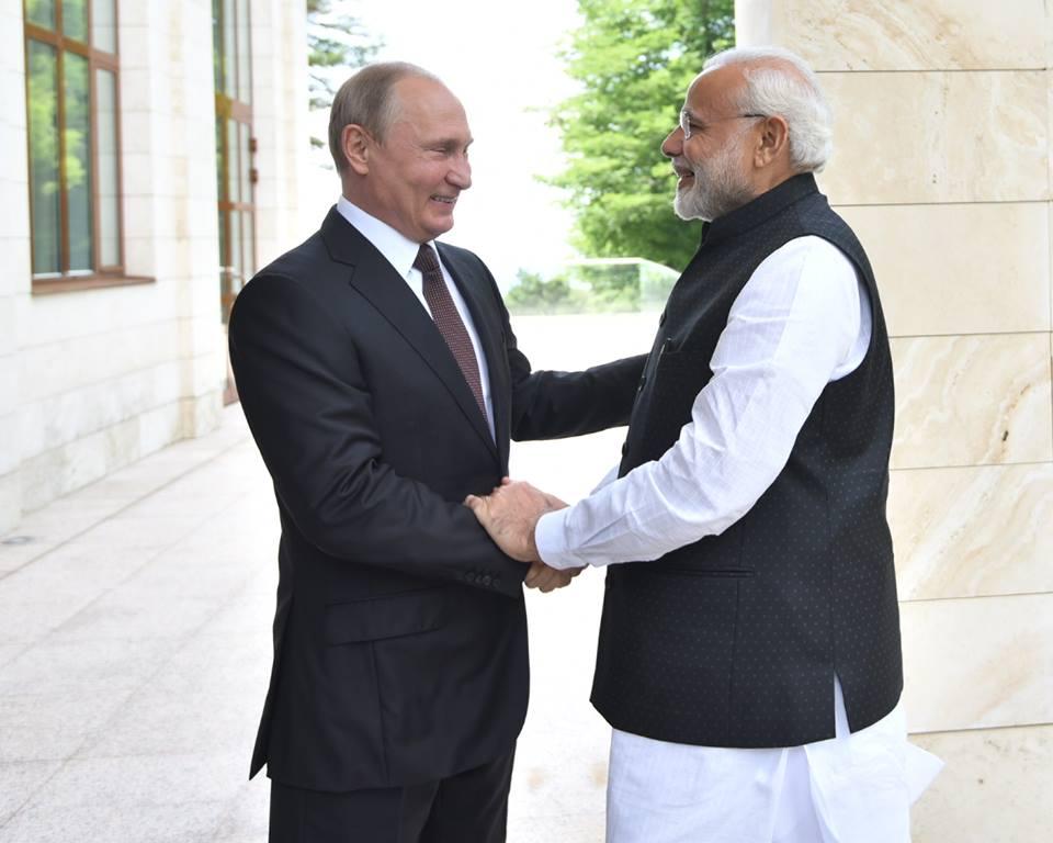 Modi meets Putin in Sochi