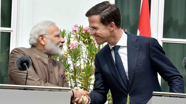 PM of Netherlands Mark Rutte arrives in India
