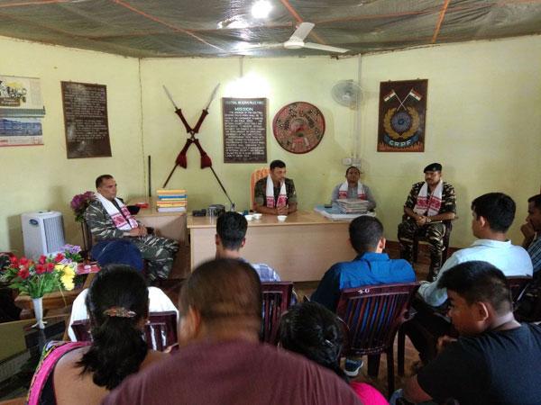 CRPF IGP visits Assam-Nagaland border