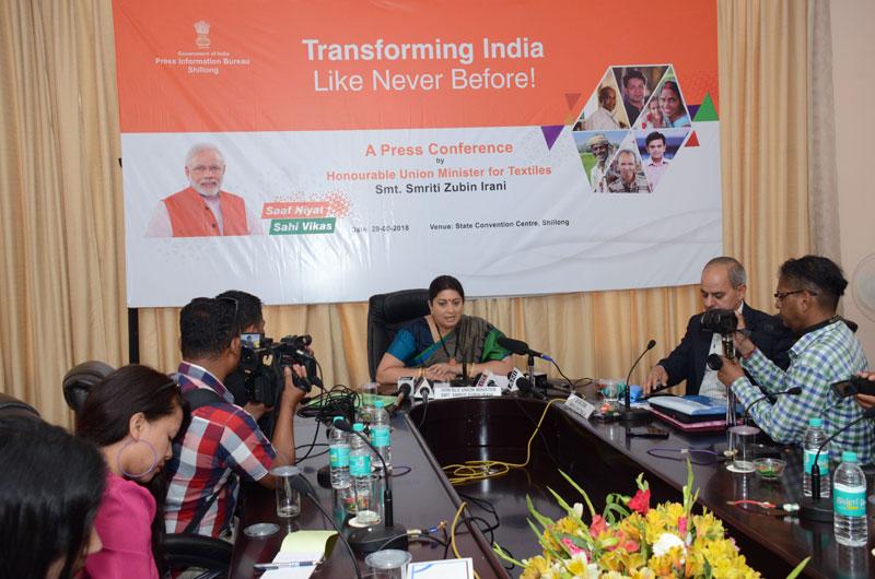 Centre visualizes rise of new India from NE: Smriti