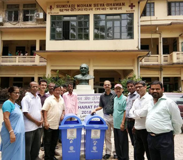 Dustbins donated