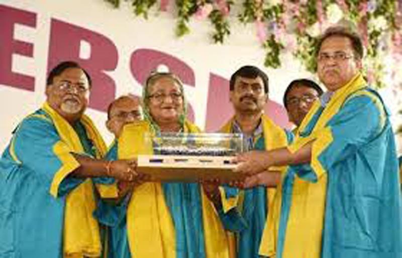 Hasina conferred on honorary D.Litt
