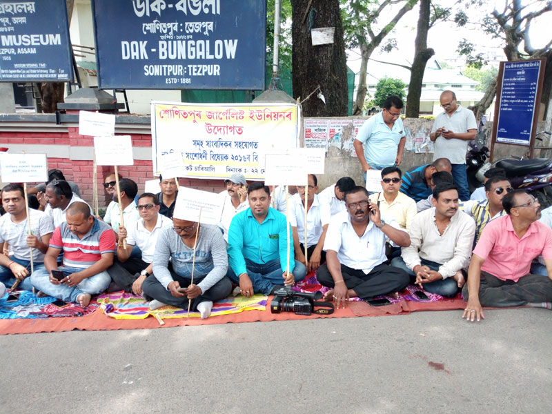 Mass protest by journalist fraternity