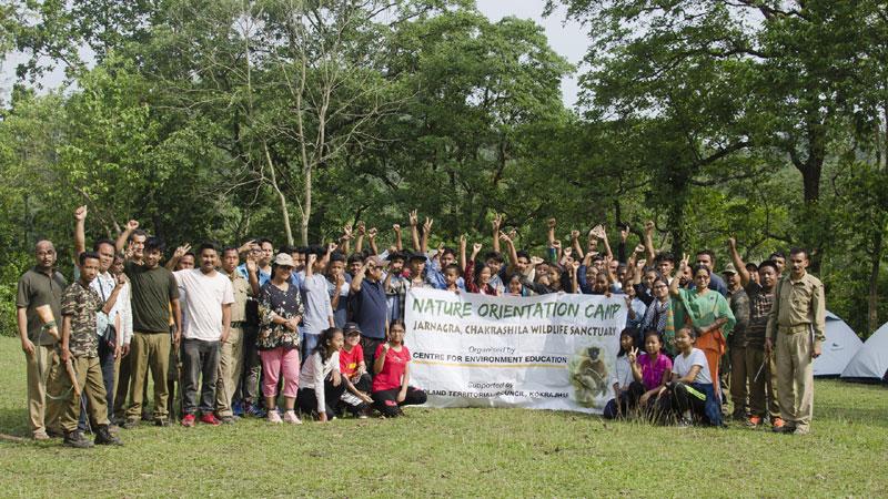 Nature orientation camp at Chakrashila Wildlife Sanctuary