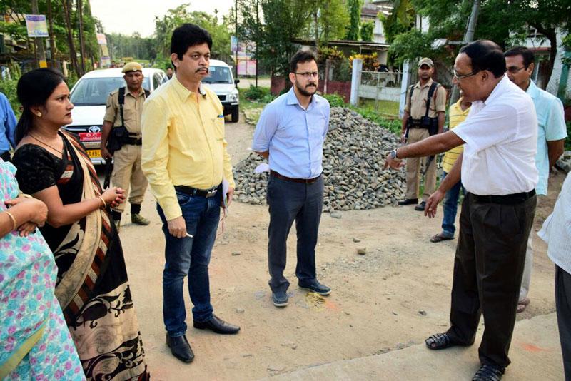 Sivasagar DC inspects deplorable roads