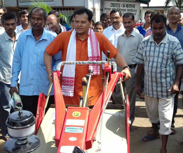 Subsidized power tillers distributed in Darrang