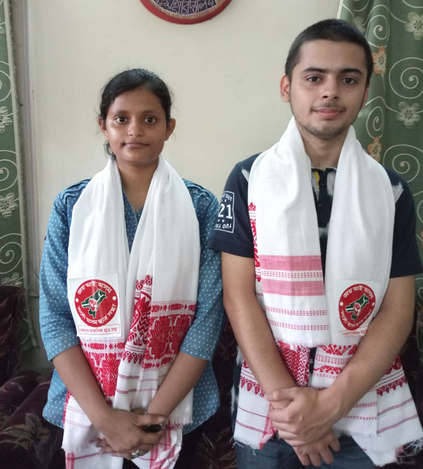Two students of Darrang College bring laurels to Tezpur