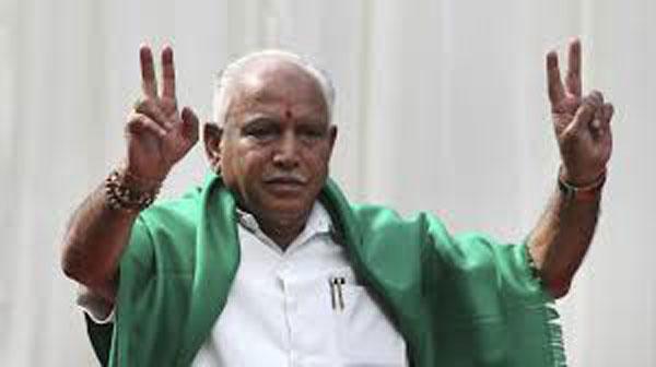 Yeddyurappa takes oath as CM amidst Congress, JD-S protest