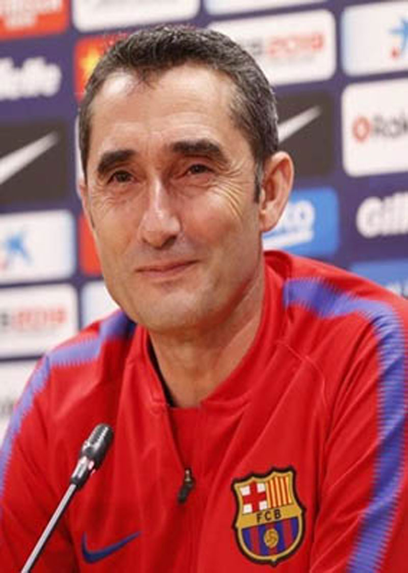 Valverde satisfied with first season as Barca coach