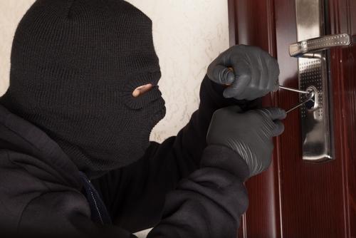 Burglary in  cop's house
