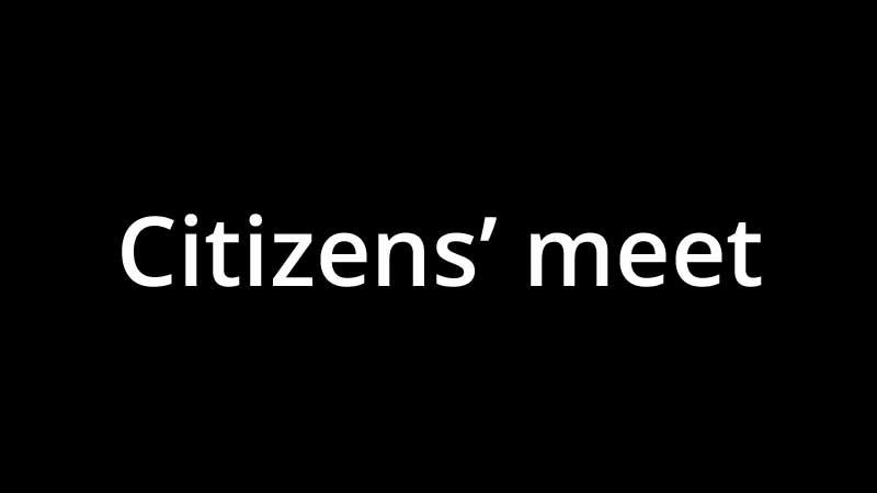 Citizens' meet organized