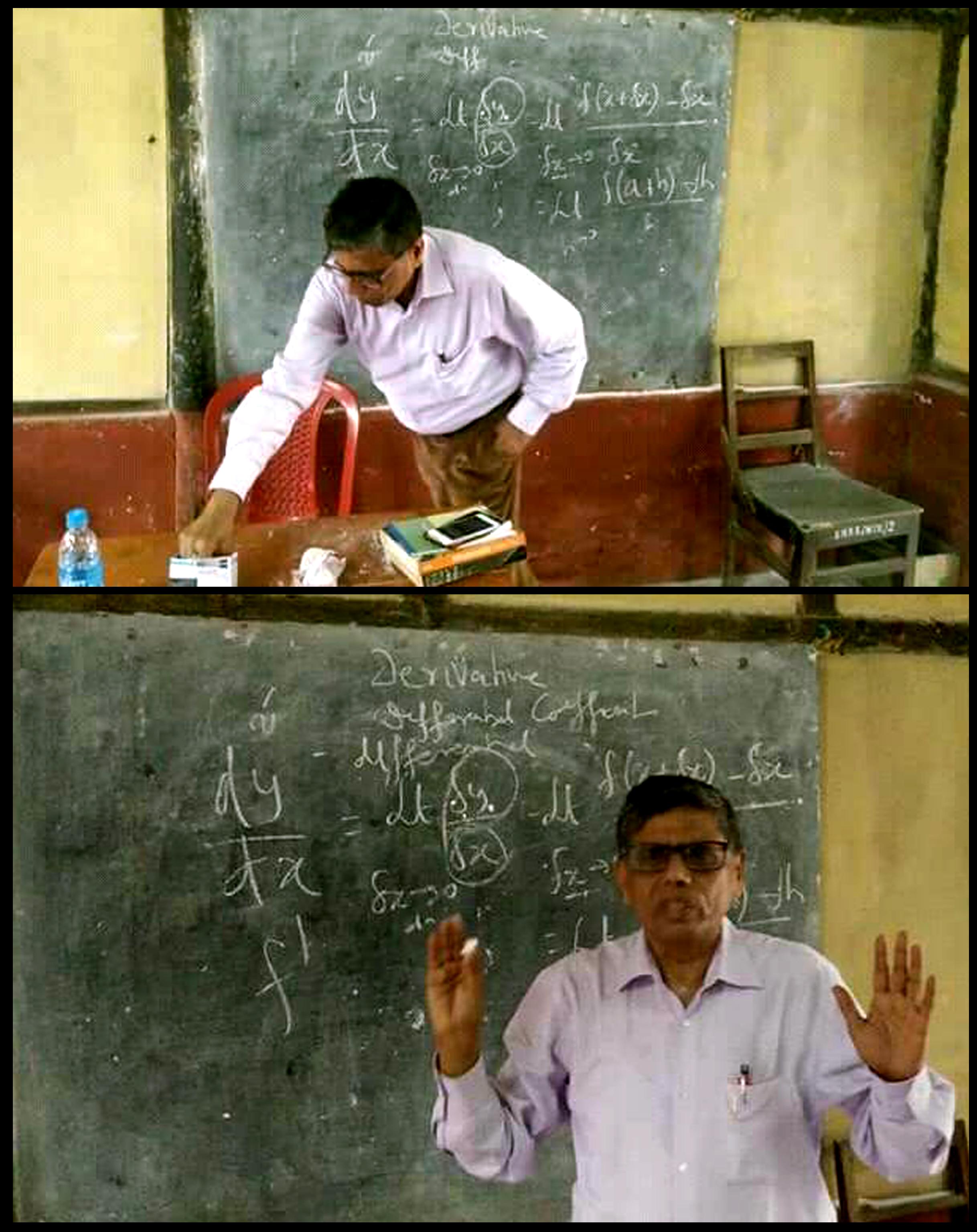 Former DGP Sahay teaches Mathematics at Sonaram Higher Secondary School