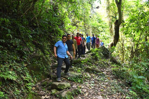 Conrad treks along foothills of Nokrek