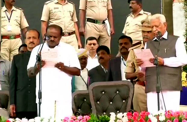 HD Kumaraswamy takes oath as the CM of Karnataka