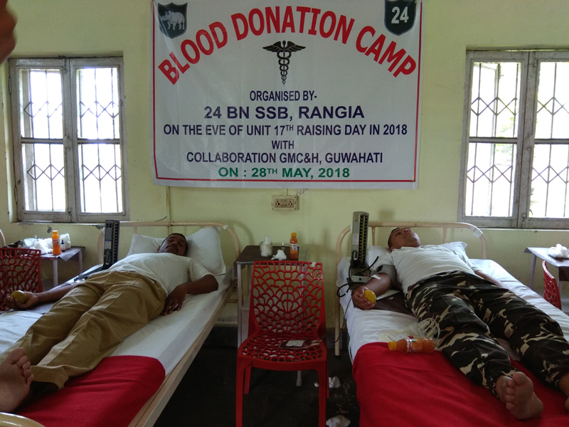 SSB holds blood donation camp at Rangia