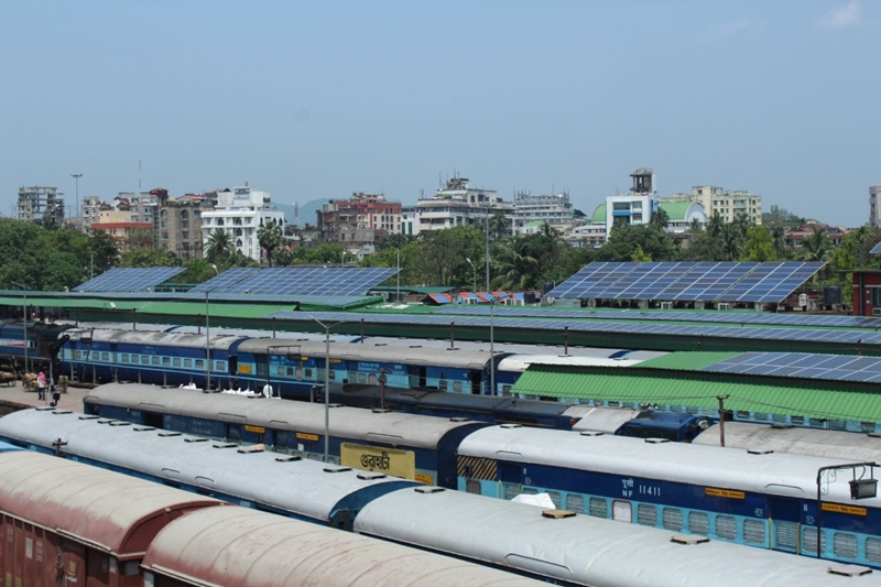Guwahati Railway Station becomes first in Northeast to run on solar power