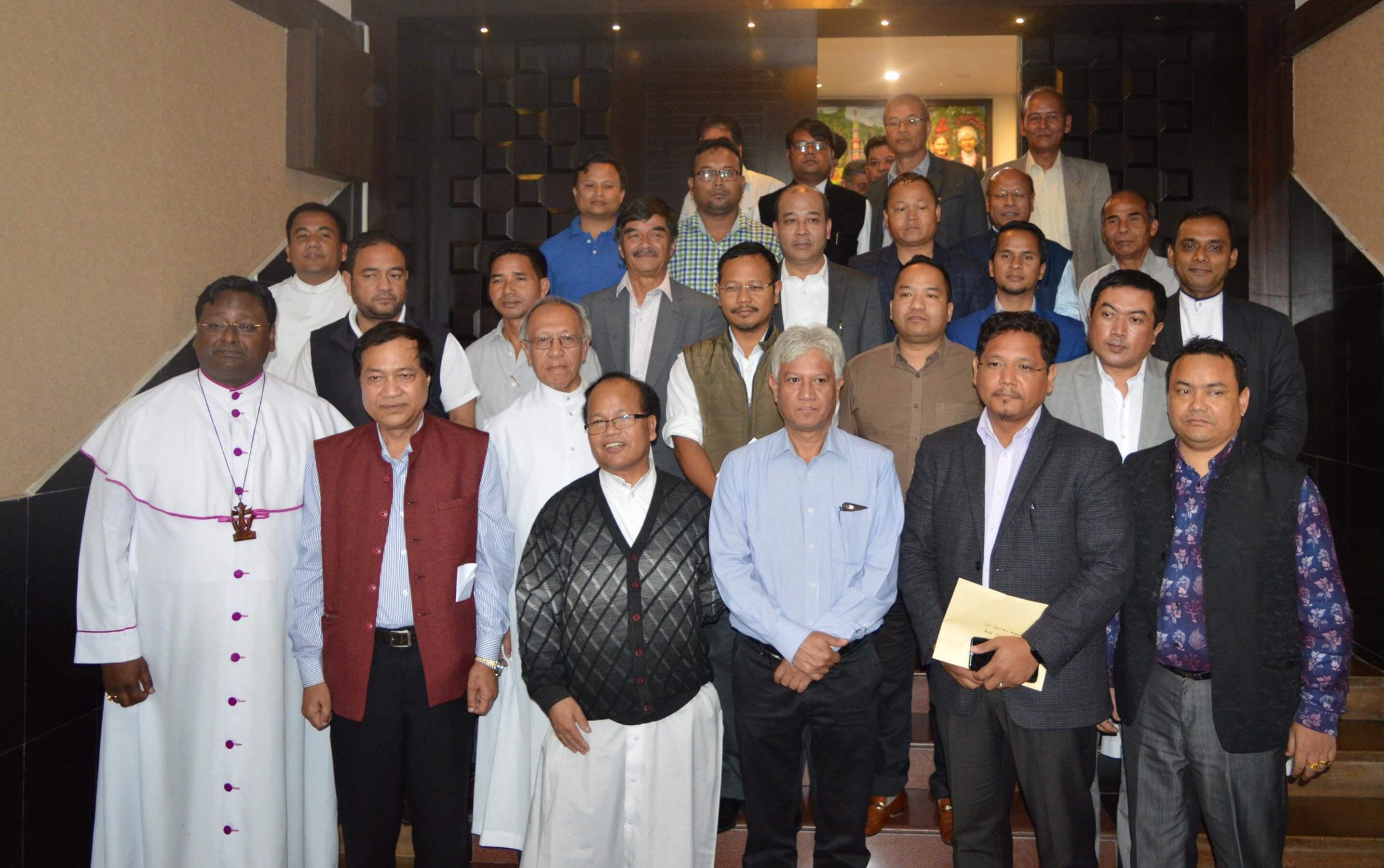 Conrad meets Church leaders, pressure groups