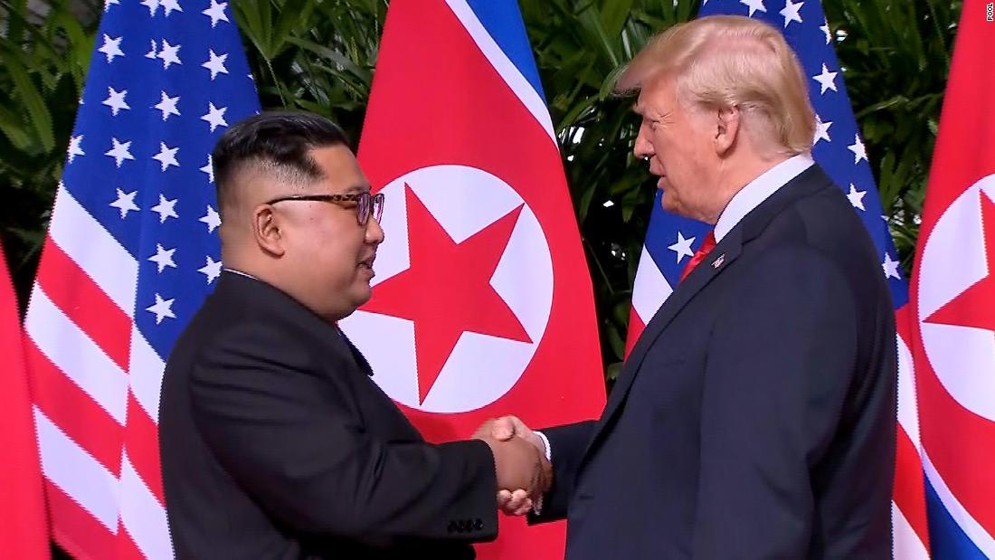 Trump-Kim's High Five