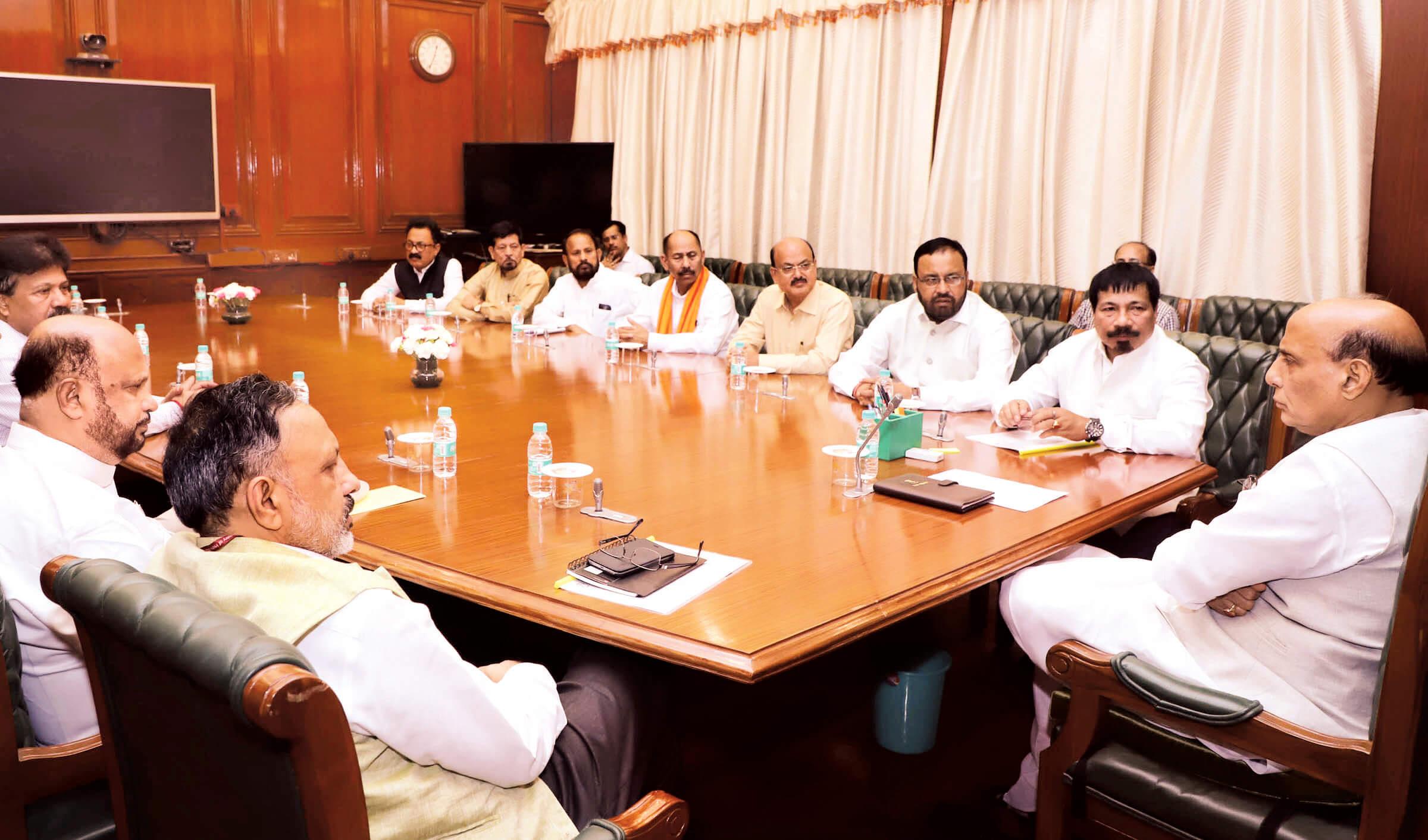 AGP meets Rajnath again, opposes Bill
