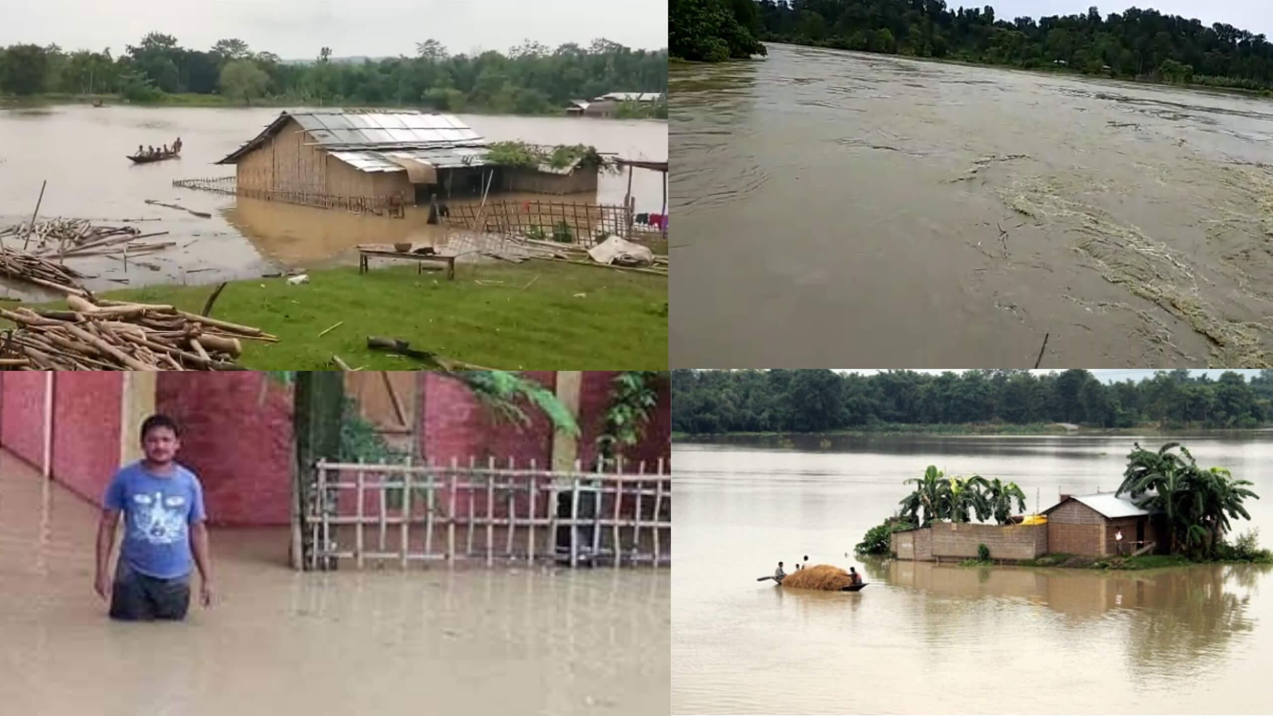 Floods hit Hailakandi district, Tasla embankment breached