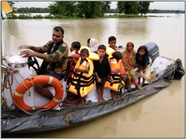 BSF conducts rescue and relief operation