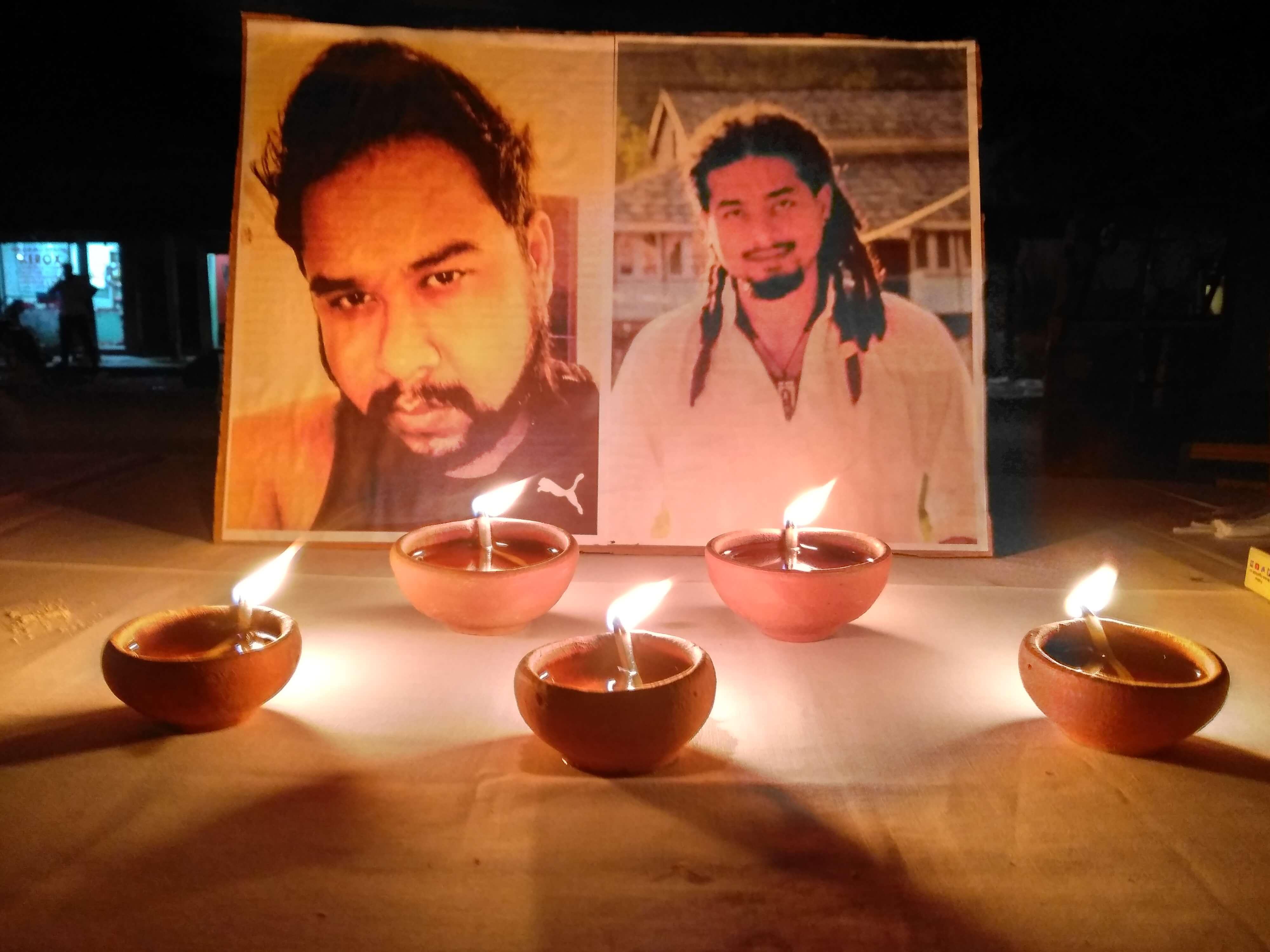 AASU, AJYCP take  out candlelight vigil