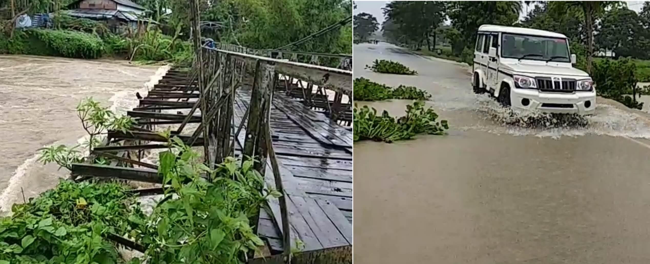 Massive Floods Wreak Havoc in Assam, NH 37 in Bokakhat Submerged
