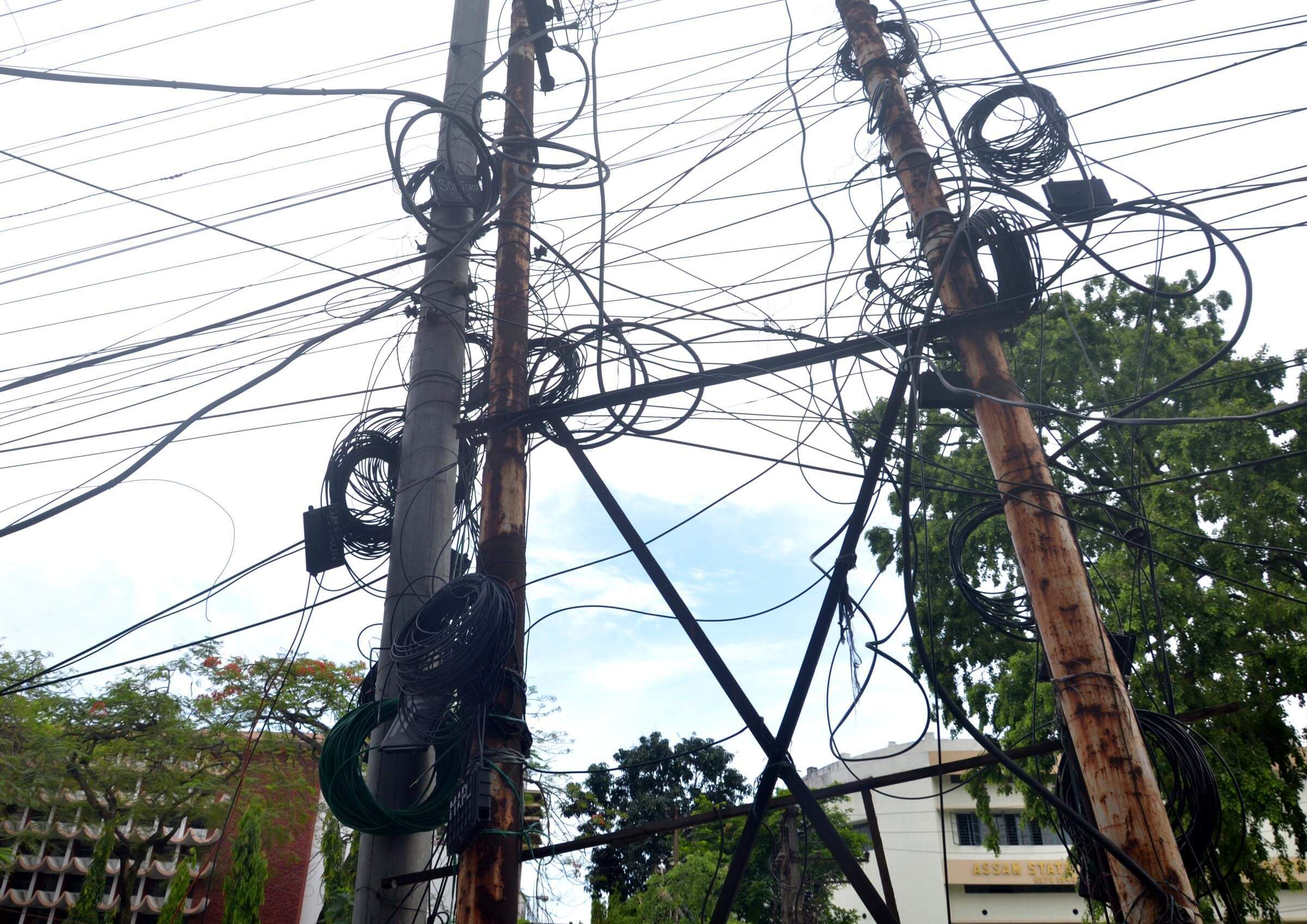 Beware of live wires and exposed transformers!